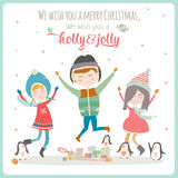 Christmas illustration with Typographic Background. Vintage Merry Christmas And Happy New Year Calligraphic And Typographic card with greeting candy on a stick Royalty Free Stock Photography