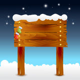 Christmas illustration of wood background Royalty Free Stock Photos