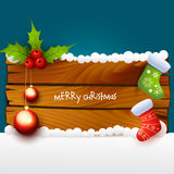 Christmas illustration of wood background Stock Photography