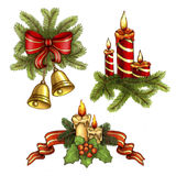 Christmas illustrations Royalty Free Stock Image