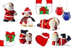 Christmas illustrations. Set of illustrations for Christmas theme stock illustration
