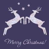 Christmas ilustration with deers. Christmas elegant vector  illustration with deers Royalty Free Stock Image