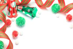 Christmas image. I imaged Christmas with ribbon and an accessory Royalty Free Stock Photo