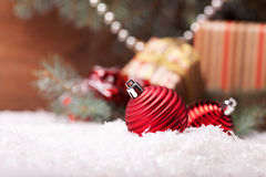 Christmas image with balls Royalty Free Stock Images