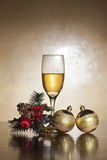Christmas image champagne Royalty Free Stock Images