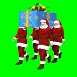 The Super Gift of Santa Claus stock illustration