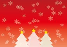 Christmas image of Tree and snow freak stock illustration