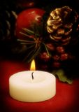 Christmas images. Christmas decoration with a candle, soft focus royalty free stock image