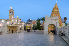 Free Christmas In Mary S Well Square, Nazareth Stock Photos - 63948343