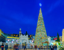 Free Christmas In Mary S Well Square, Nazareth Royalty Free Stock Photos - 63948668