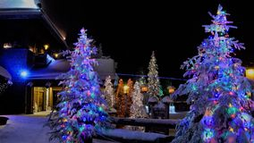Christmas In Rovaniemi Royalty Free Stock Photos