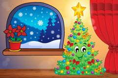 Christmas indoor scene 1 Stock Image