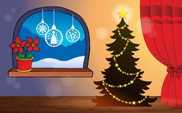 Christmas indoor theme 2. Eps10 vector illustration Royalty Free Stock Photo