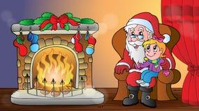 Christmas indoor theme 6. Eps10 vector illustration Stock Photo