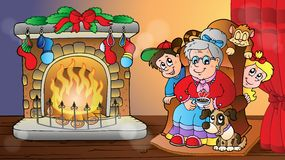 Christmas indoor theme 7 Stock Image