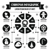 Christmas infographic concept, simple style Stock Photo
