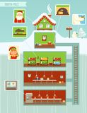 Christmas Infographic. Christmas design elements, North Pole Illustration Stock Photos