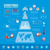 Christmas infographic elements for your business Modern flat design style Stock Photography