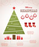 Christmas infographic icon set Royalty Free Stock Image