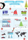 Christmas infographic illustraion. Royalty Free Stock Photo