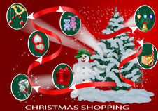 Christmas infographic Royalty Free Stock Images