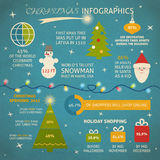Christmas infographic with sample data Stock Photography
