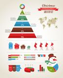 Christmas infographic Royalty Free Stock Photos