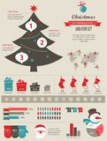 Christmas infographic Stock Photography