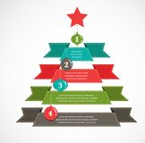 Christmas infographic Royalty Free Stock Image