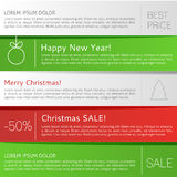 Christmas infographic Royalty Free Stock Photo