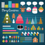 Christmas infographics Royalty Free Stock Image