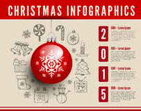 Christmas infographics Royalty Free Stock Photo