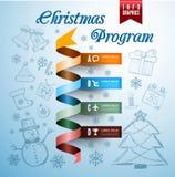 Christmas infographics Stock Images