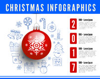 Christmas infographics vector illustration Royalty Free Stock Photography