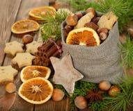 Christmas ingredients Royalty Free Stock Photos