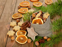 Christmas ingredients Stock Photography