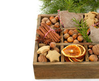 Christmas ingredients Royalty Free Stock Images