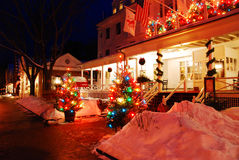 Christmas at the Inn. Christmas Time at the Historic Red Lion Inn, Stockbridge, MA royalty free stock images