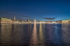 Christmas at Inner Alster in Hamburg Royalty Free Stock Photo