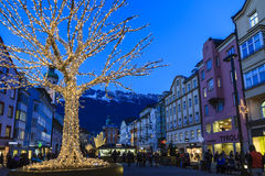 Christmas in Innsbruck, Austria Royalty Free Stock Photo