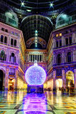 Christmas inside the Galleria Umberto Royalty Free Stock Images