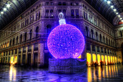 Christmas inside the Galleria Umberto Stock Photo
