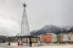 The christmas installation with swarowski crystals in Innsbruck Stock Image