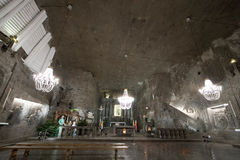 Christmas installation in Wieliczka salt mine Royalty Free Stock Image