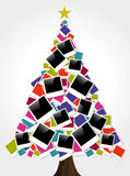 Christmas instant photo frame tree Royalty Free Stock Photography