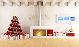 Christmas Interior royalty free illustration