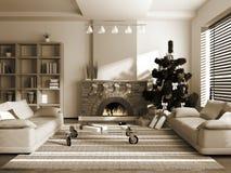 christmas interior Στοκ φωτογραφία με δικαίωμα ελεύθερης χρήσης