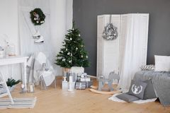 Christmas interior decoration royalty free stock photography