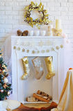 Christmas interior decoration Stock Images