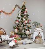 Christmas interior decorations Stock Photo